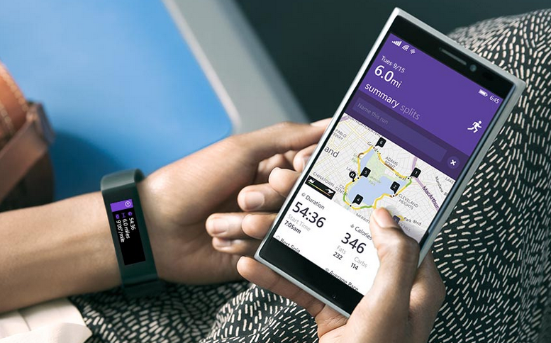 Microsoft Band with Windows Phone