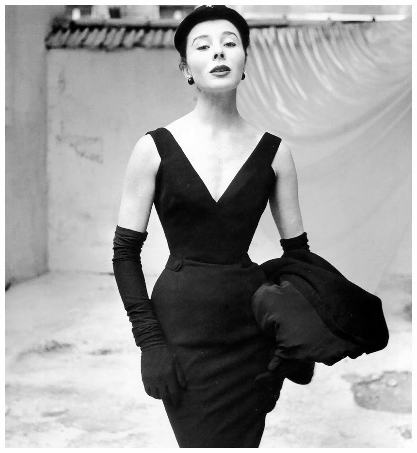 Bettina in Christian Dior 1952- photo by Frances McLaughlin-Gill 1952