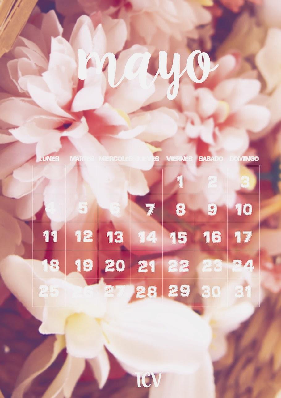 Calendario descargable mayo