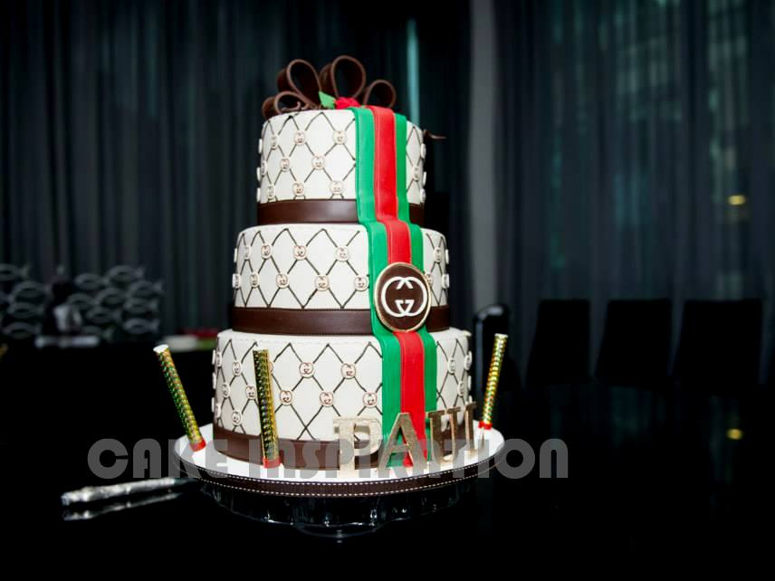 The Sensational Cakes 3D ELEGANT GUCCI THEME DESIGNER CAKE FOR VIP