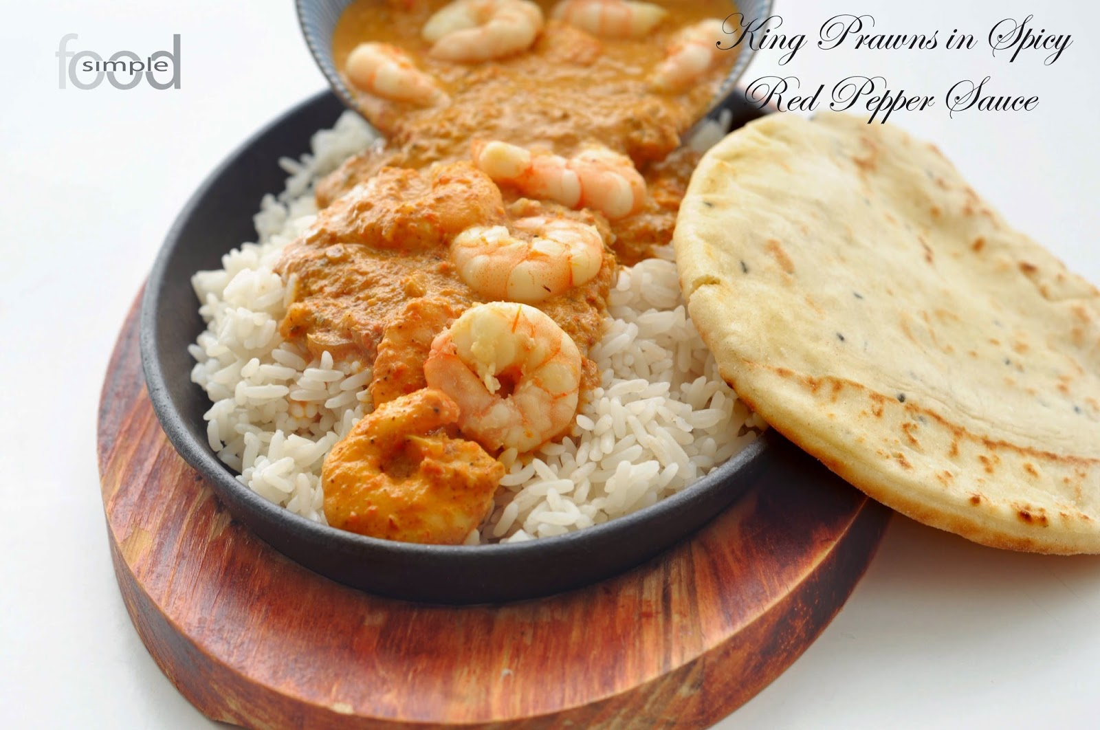 King Prawns in Spicy Red Pepper Sauce ~ Simple Food