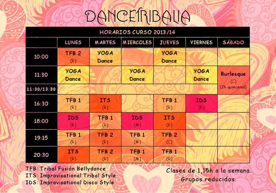 horarios dancetribalia
