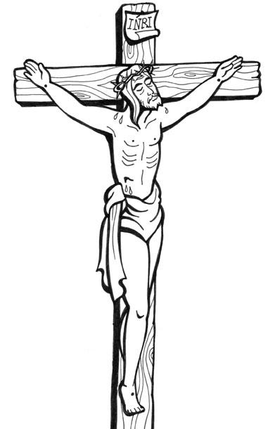 El Rincn de las Melli DIBUJO Cristo en la Cruz