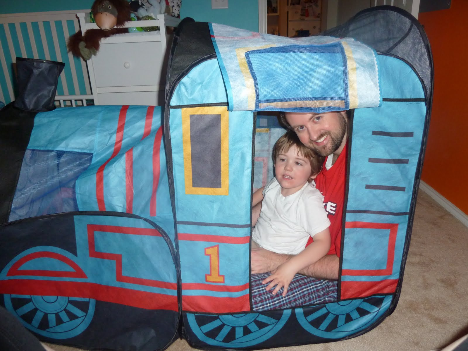 I donu0027t remember if Iu0027ve ever shown yu0027all the Thomas Tent...this is another nod to how completely spoiled my son is! Calebu0027s babysitter Janet gave this to ...  sc 1 st  Growing Up Colson & Growing Up Colson: A Little TTTT...Thomas the Train Tent!!