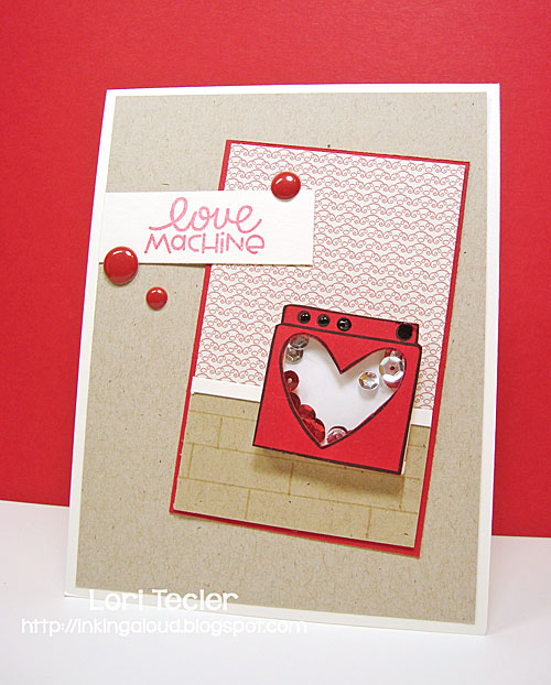 Love Machine shaker card-designed by Lori Tecler/Inking Aloud-stamps from Paper Smooches