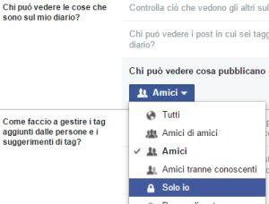bloccare da scrittura profilo Facebook