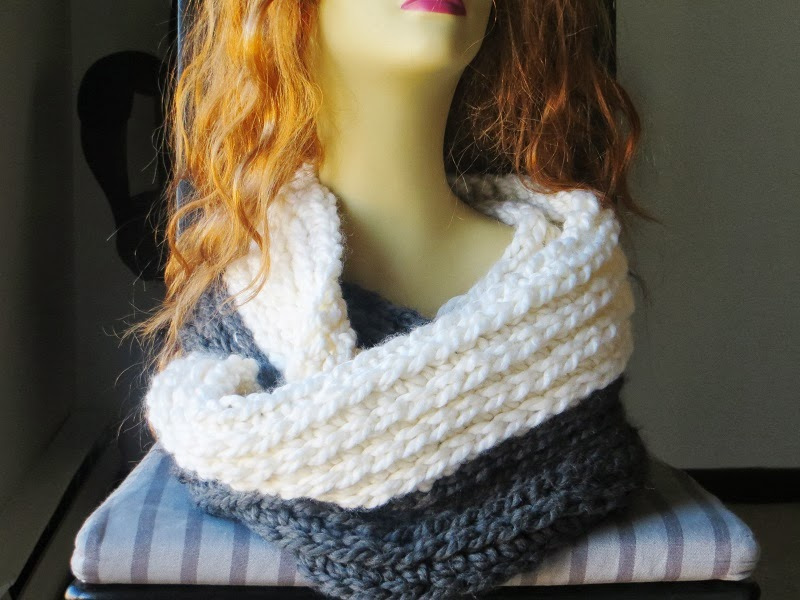 Knitting Pattern For Chunky Infinity Scarf : Crochet Dreamz: Chunky Infinity Scarf Crochet Pattern, Knit Look Crochet Scar...