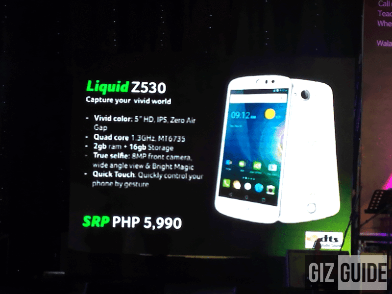 Acer Liquid Z530 Also Introduced, 5 Inch, Dual 8 MP Cam, 2 GB RAM At Just 5990 Pesos!