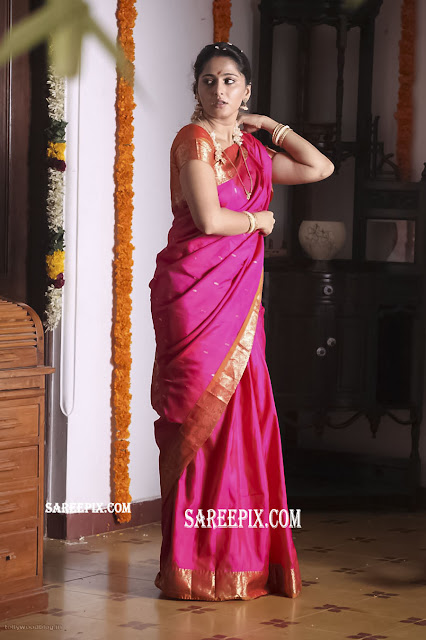 anushka shetty latest saree pic from shivathandavam