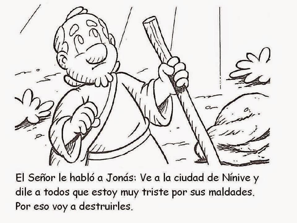 Lujoso Jonah Para Colorear Las Actividades Bosquejo - Dibujos Para ...