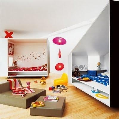 Id es color es pour chambre d 39 enfant for Chambre pour deux enfants