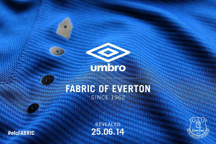 Everton 14 15 Home Kit+(2) Leaked! Everton new 2014 15 home shirt is posted online, modelled by Ross Barkley [Pictures]