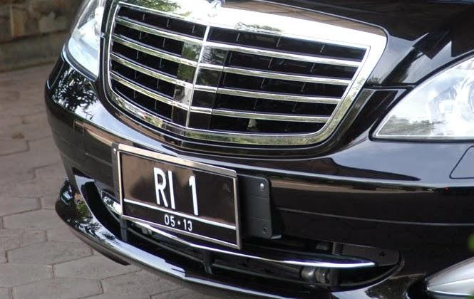 Plat Nomor Polisi Kendaraan Presiden RI 1