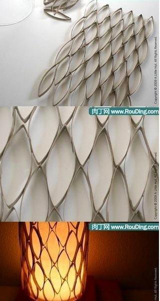 Lamparas con materiales de reuso - Lamparas de techo de papel ...