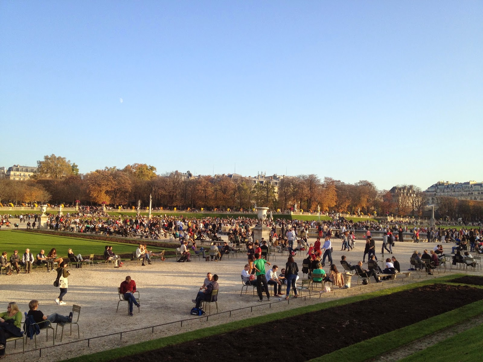 Crowd at the Jardin du Luxembourg, Paris