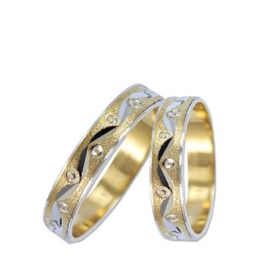 Simple White Gold Band Set Wedding Ring Sets For Brides