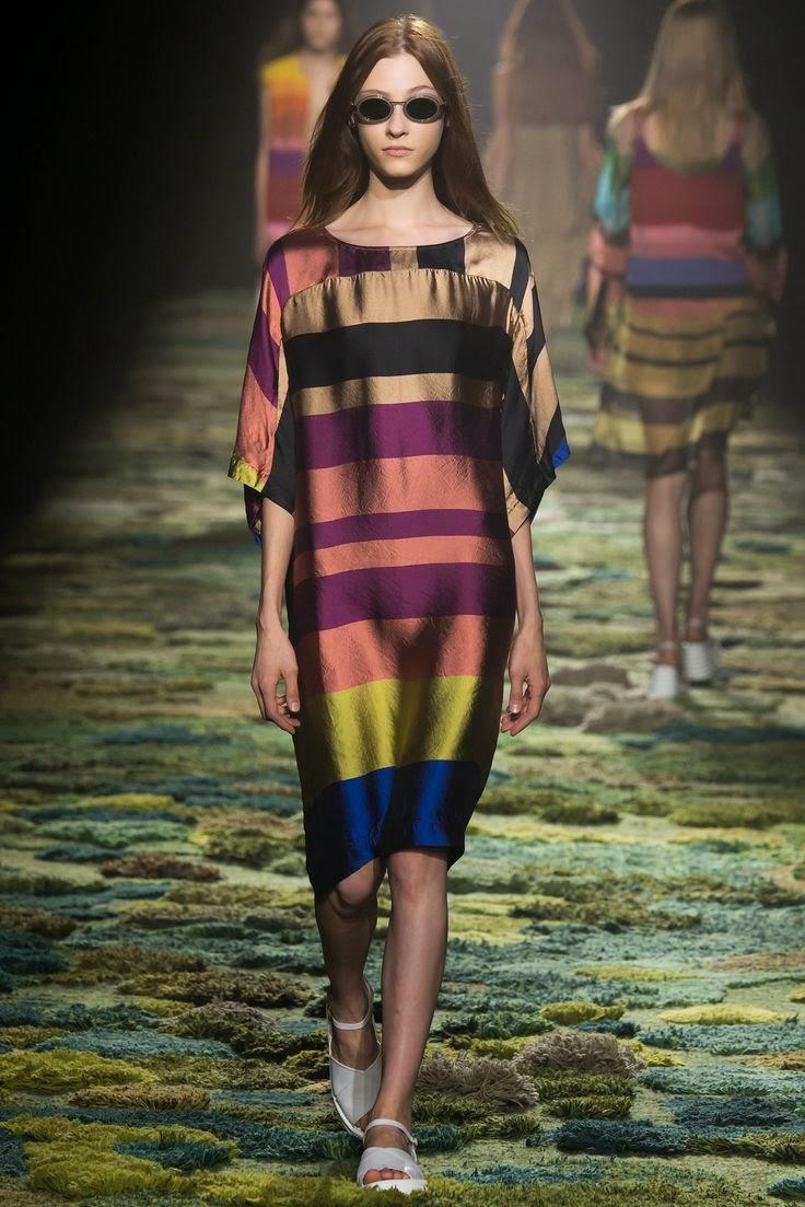 Tendências moda primavera-verão 2015 padrão listas