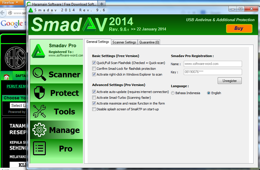 Free Download Smadav 9.3 + Keygen