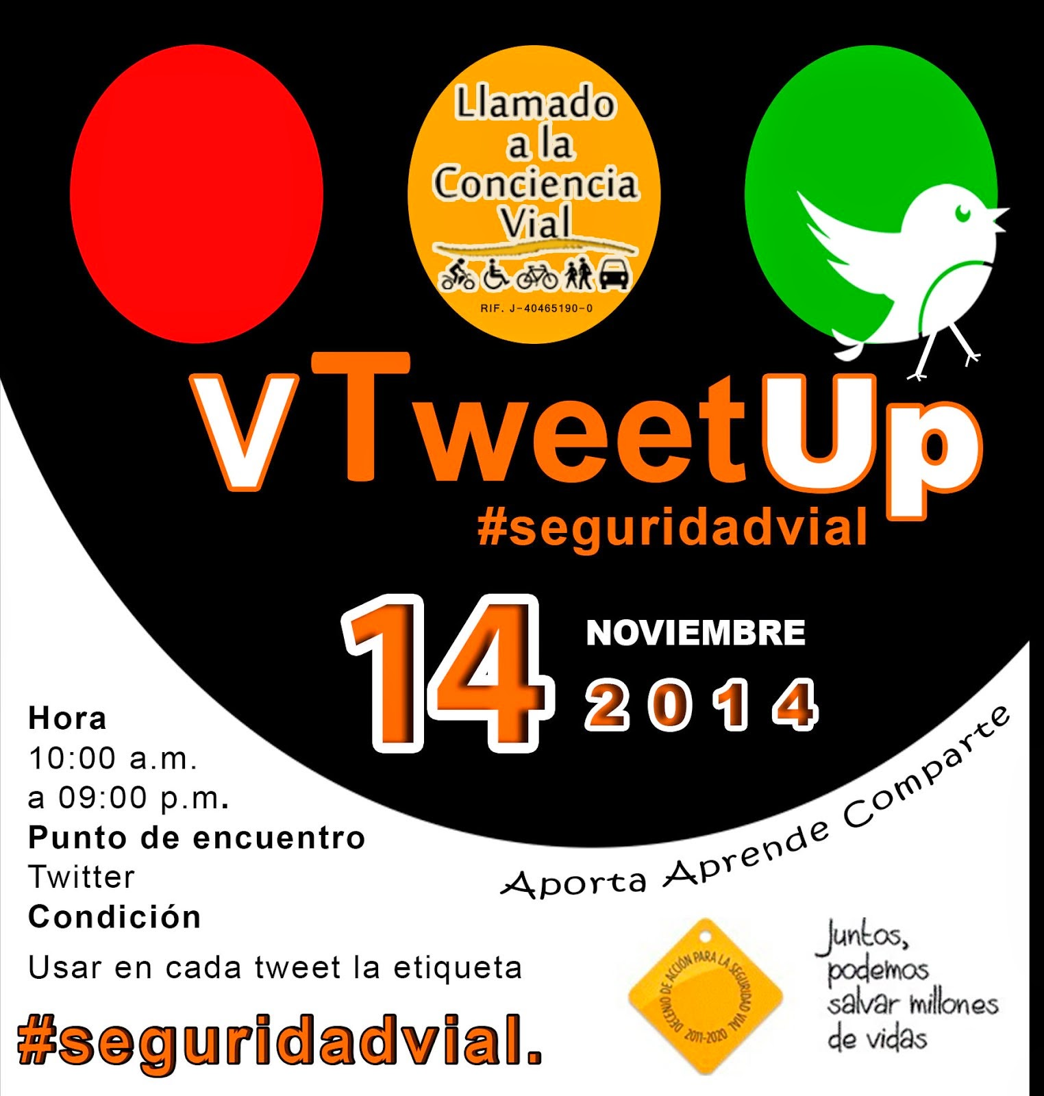 V TweetUp #SeguridadVial