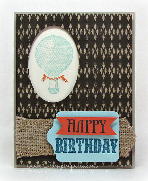 Masculine argyle embossed birthday card #cardmaking #StampinUp #rubberstamping