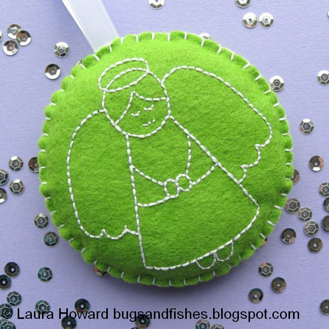 Bugs And Fishes By Lupin How To Embroidered Felt Christmas Baubles