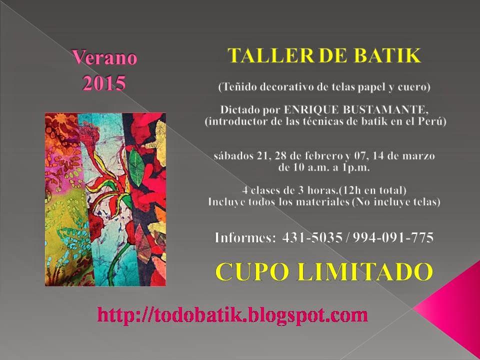 TALLER DE BATIK - VERANO 2015