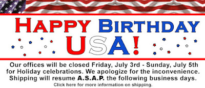 Happy 4th of July! Offices close July 3rd, 2015