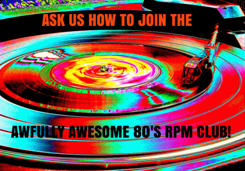 AWFULLY AWESOME 80S RPM CLUB BANNER