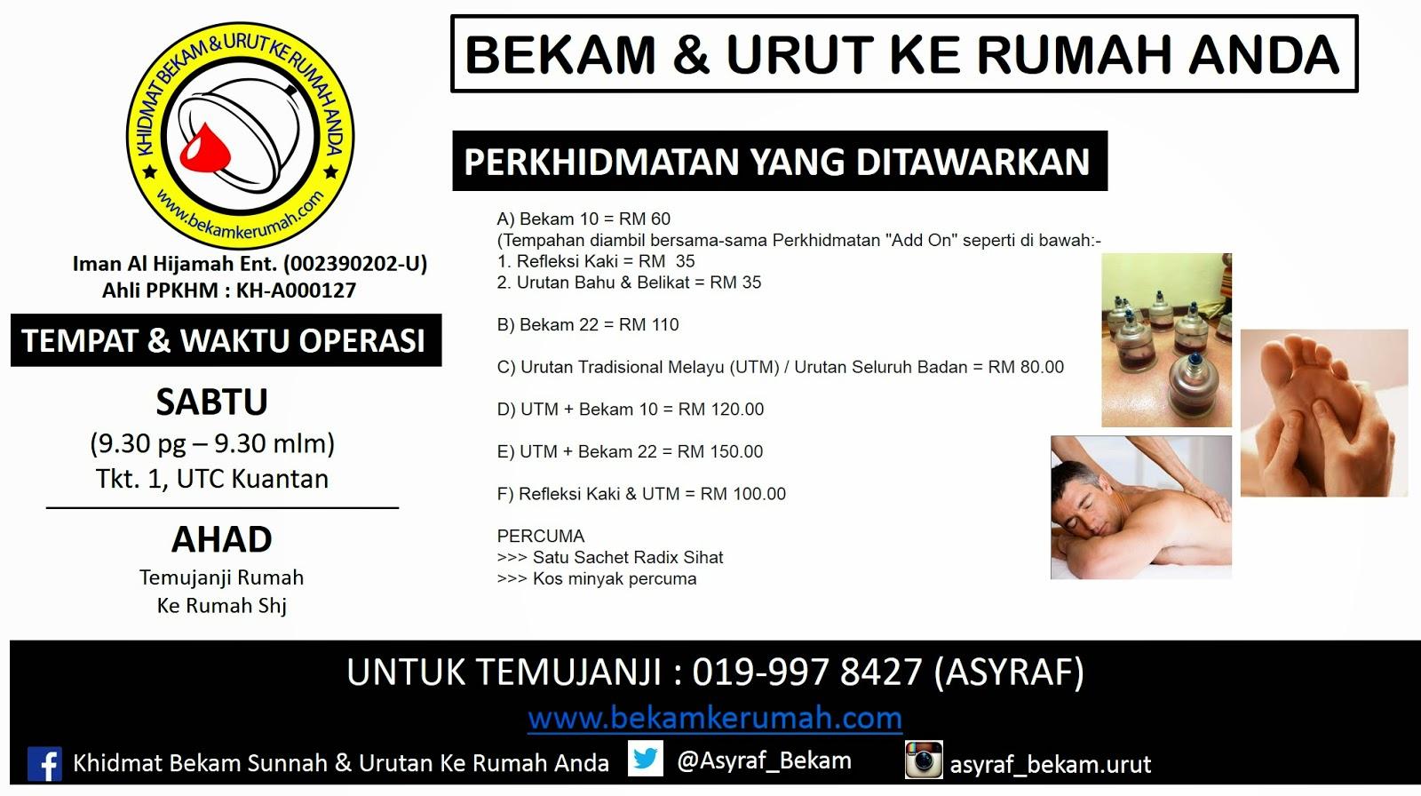 Urut dan Bekam UTC Kuantan Pahang
