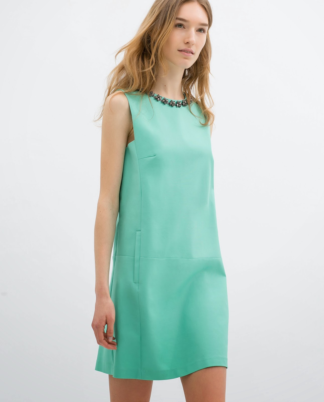zara  mint green dress