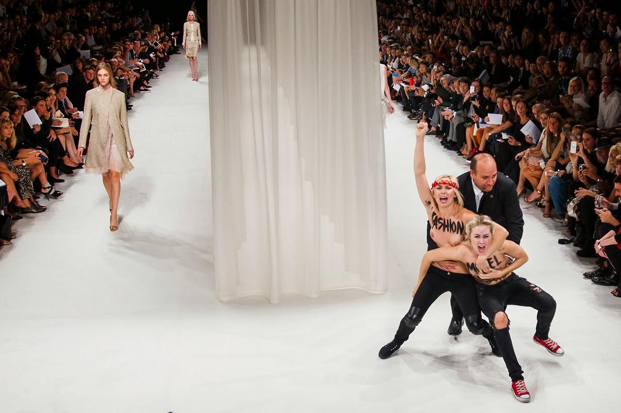 Tata Jazz Blog: Femen protest at Nina Ricci S/S 2014 PFW