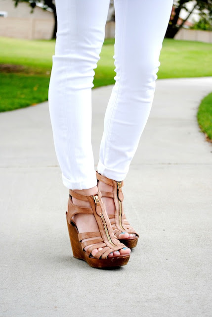 Steve Madden zipper wedge