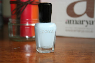 a picture of Zoya nail polish in the colour Blu from Amarya beauty box March 2013