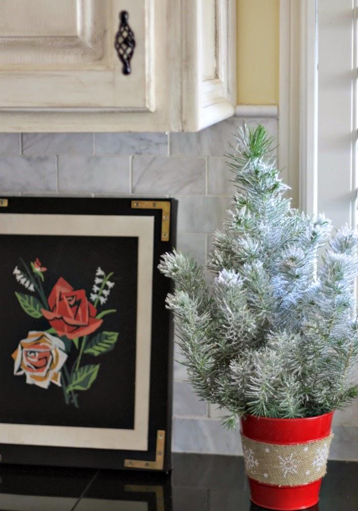 little flocked christmas tree