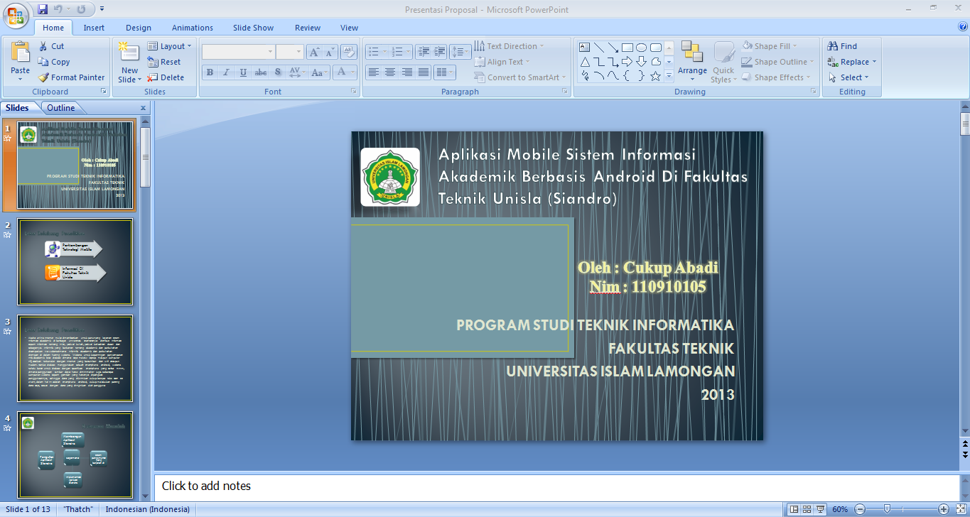 contoh powerpoint presentation