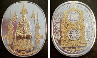 Arjan Luen with Thai & Burmese Sakyant (Magic words) -SILVER WITH GOLD