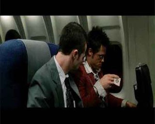 fight club, plane, narrator