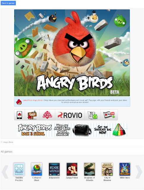 Google+ Games: Angry Birds screenshot