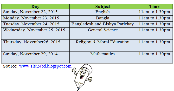 ebtedayi and psc exam routine 2015 download site24 bd
