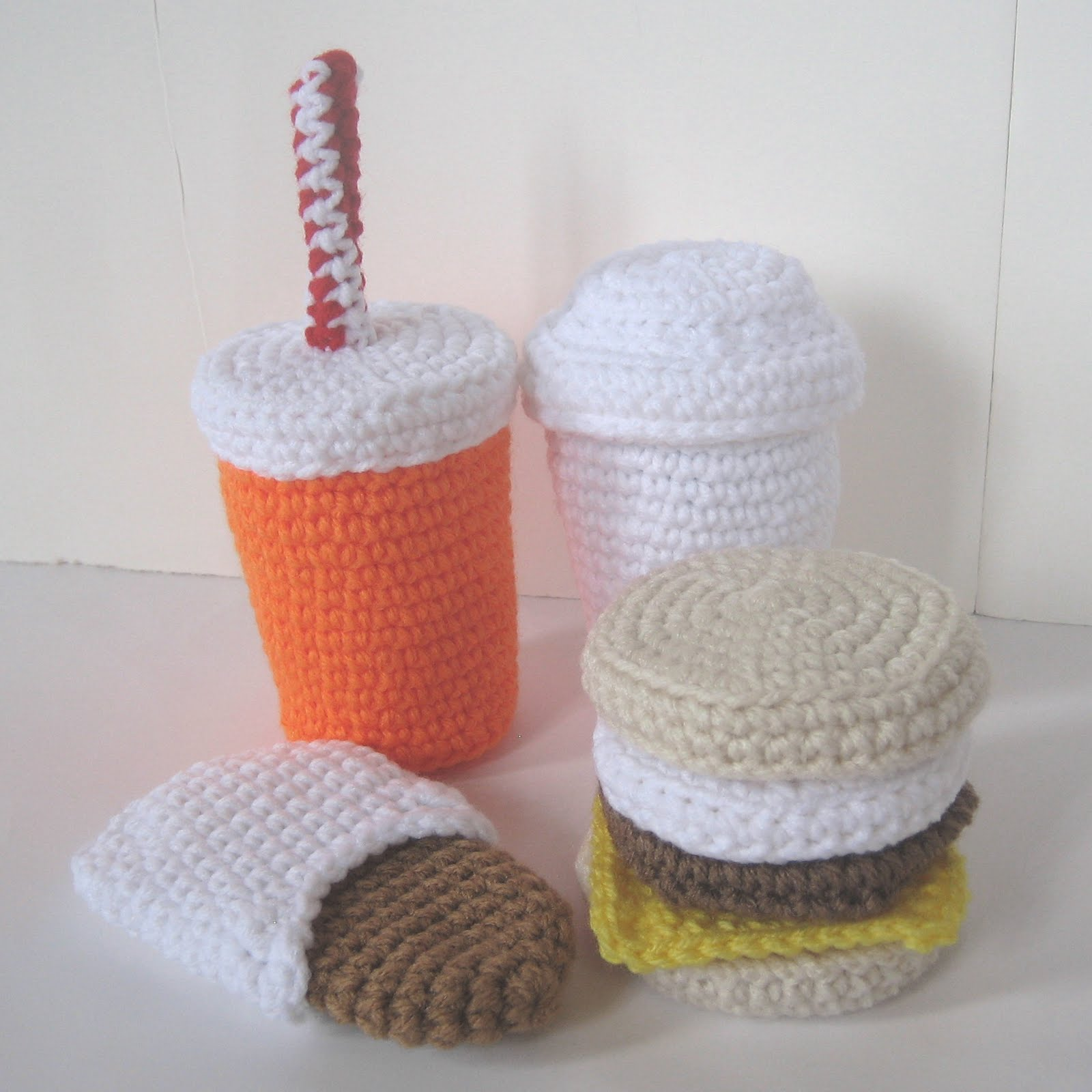 Crochet New : CROCHET N PLAY DESIGNS: New Crochet Pattern: Fast Food Breakfast