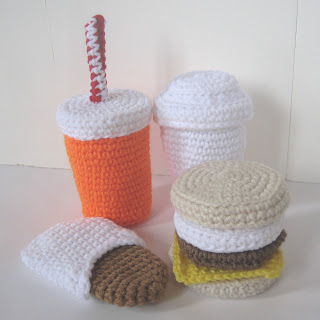 CROCHET N PLAY DESIGNS: New Crochet Pattern: Fast Food Breakfast