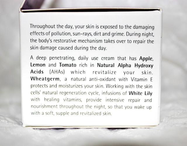 Himalaya Herbals Revitalizing Night Cream Review