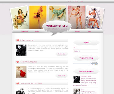 Template Pin-Up 2 Blogspot Skin