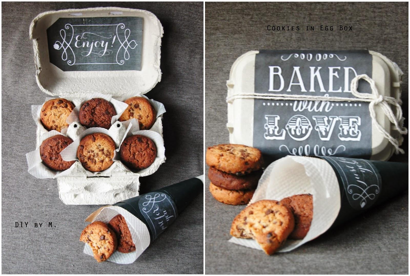 diy by m cookies offrir dans une jolie boite. Black Bedroom Furniture Sets. Home Design Ideas