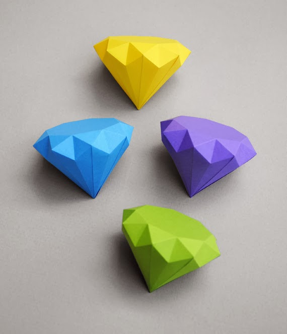 3d paper diamond origami the idea king