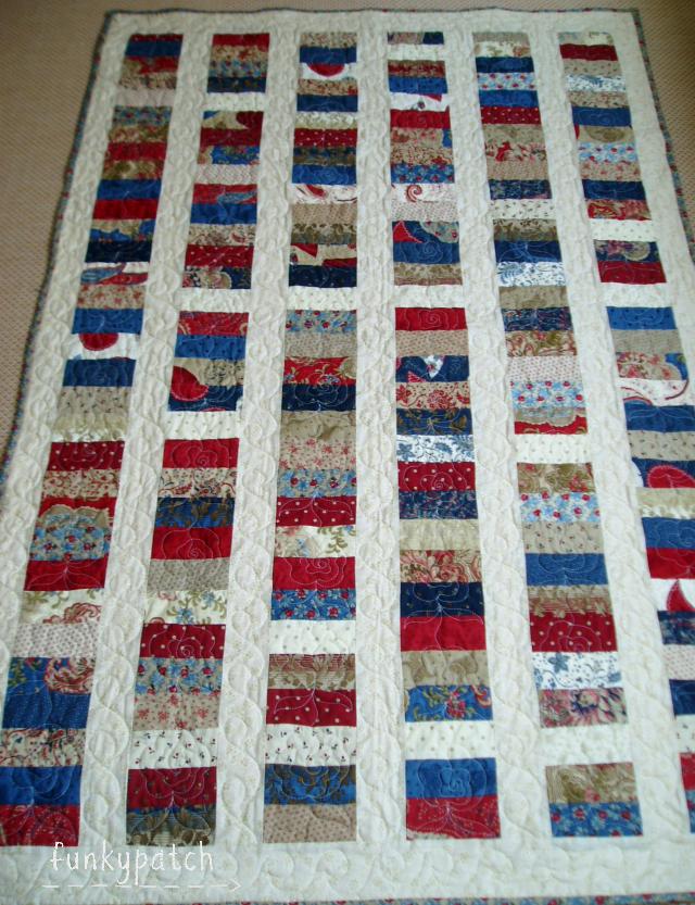 Colcha de patchwork con charm pack