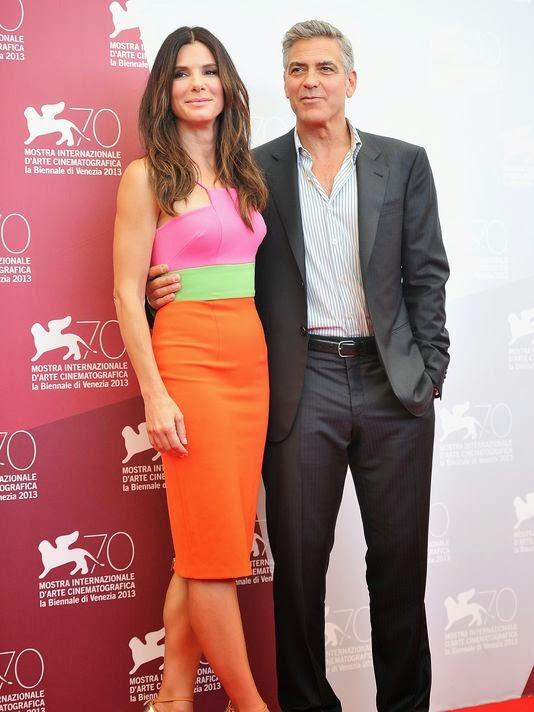 Sandra Bullock, photo call, Venice Film Festival, George Clooney, Alex Perry Resort