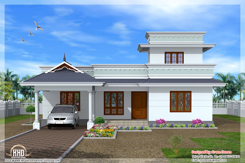 1950 sq.feet Kerala model one floor house title=