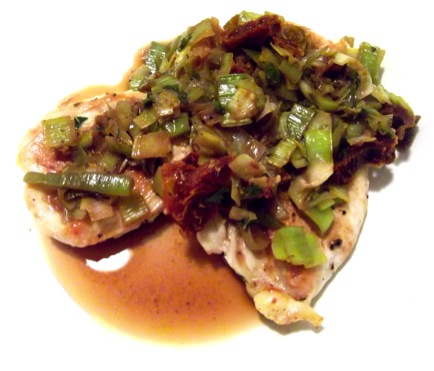 taste: Chicken with Leeks, Sun-Dried Tomatoes & White Wine