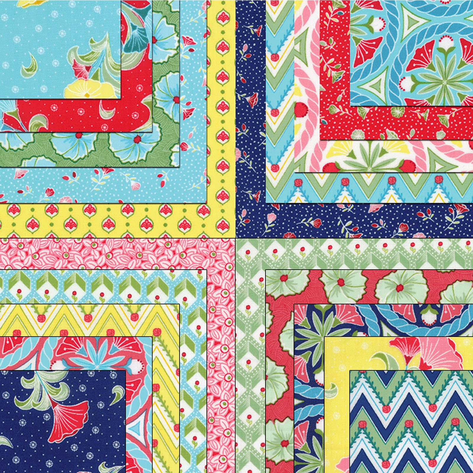 Moda PEDAL PUSHERS Quilt Fabric by Lauren & Jessi Jung for Moda Fabrics